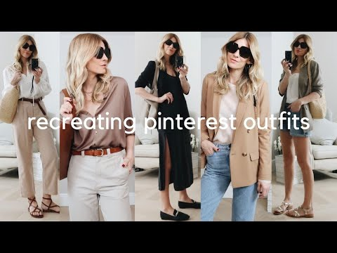 RECREATING PINTEREST OUTFITS | 6 Timeless Outfit Ideas | SPRING (2021)