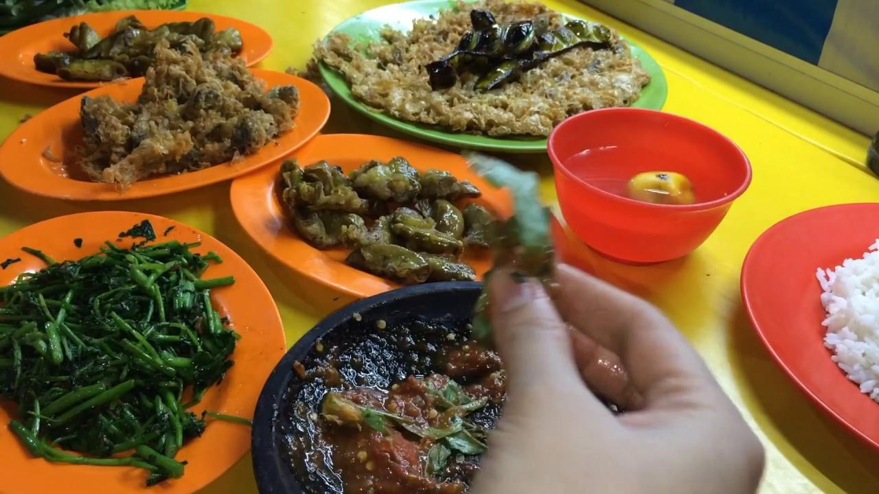Lalapan Jeroan Babat Usus Warung Sido Rukun Inot Alun Alun Kota Batu Kuliner Malang Kuliner Batu