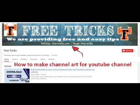 Channel Art | How to Make Channel Art for YouTube (Using photoshop ...