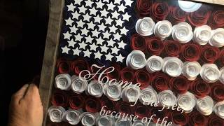 Rolled Roses For Shadow Boxes & Free SVG For Your Die Cutting Machines