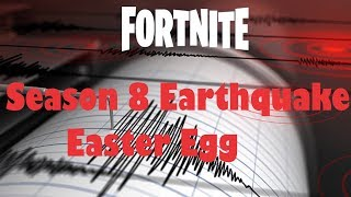 Fortnite Season 8 Earthquake tremor Easter Egg clip. Battle Royale XBOX ONE.
