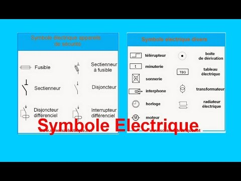 symbole schema electrique maison youtube. Black Bedroom Furniture Sets. Home Design Ideas