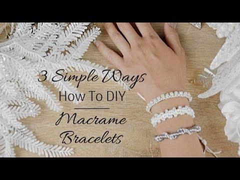 ✂️ 3 Ways to Start and End a Macrame Bracelet   DIY Friendship Bracelets 
