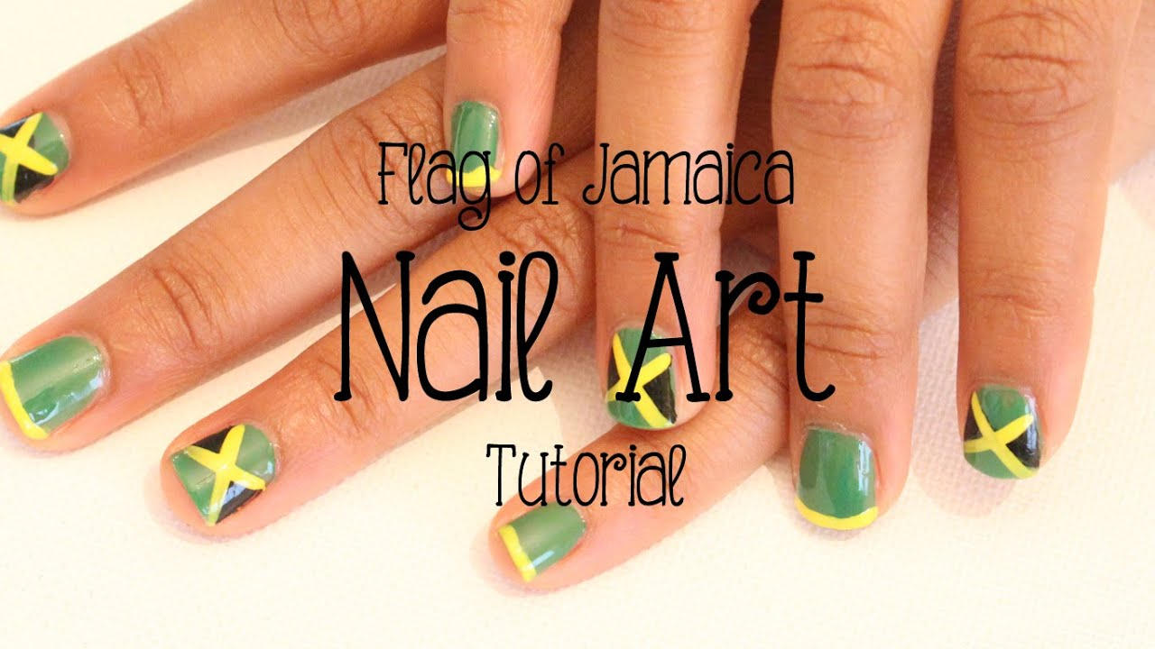 Jamaican Flag Nail Art Tutorial Socamom
