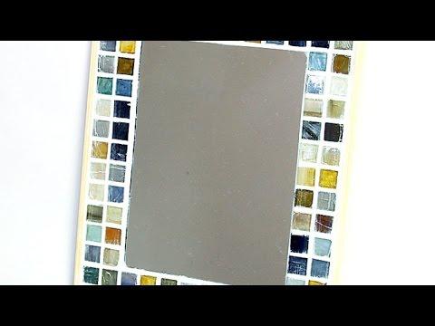 How To Make a Cute Mosaic Tile Mirror Frame - DIY Home Tutorial - Guidecentral