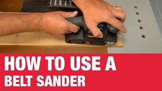 How To Use a Belt Sander - Ace Hardware
