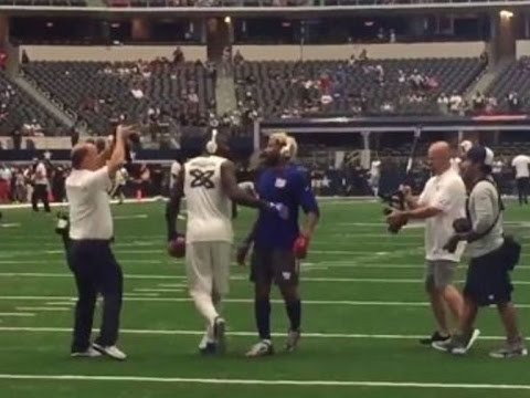 Dez Bryant Odell Beckham Jr Play Catch Before Kickoff