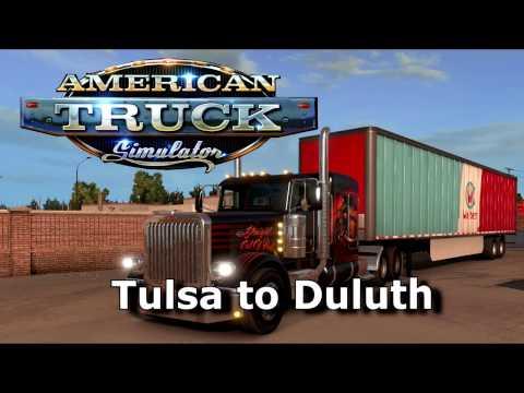 American Truck Simulator  -  Tulsa (Oklahoma) to Duluth (Minnesota)