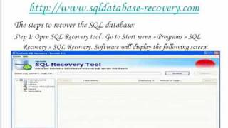 How the SQL database recovery software works.mp4
