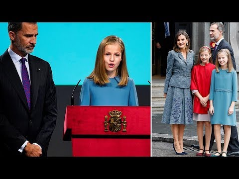 Princess Leonor of Spain speaks publicly for the first time at an event in Madrid