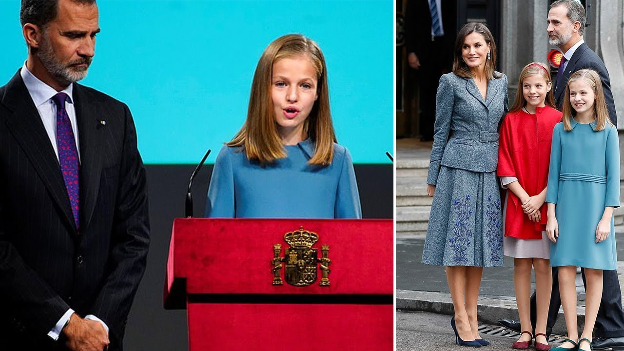 9a4837958a4b Princess Leonor of Spain speaks publicly for the first time at an ...