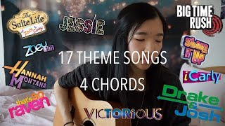 17 SONGS, 4 CHORDS - CHILDHOOD DISNEY CHANNEL & NICKELODEON THEME SONG MEDLEY