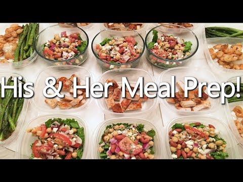 His and Her Meal Prep – Healthy Couple Meals!