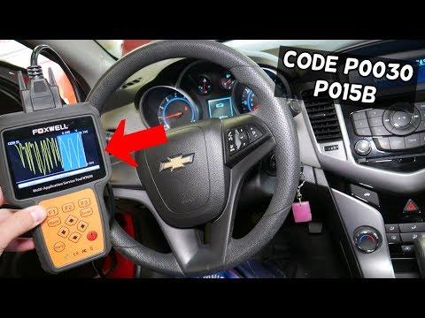 CHEVROLET CRUZE SONIC CODE P0030 P015B FIX. ENGINE LIGHT ON CHEVY CRUZE SONIC, HOLDEN CRUZE
