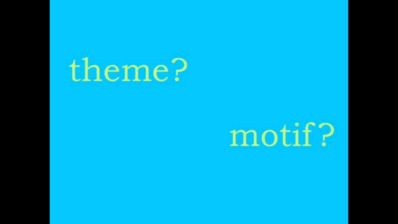 Theme vs motif youtube theme vs motif buycottarizona Images