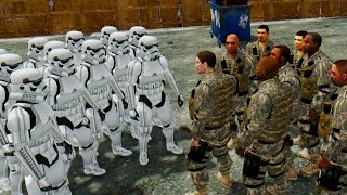 STORMTROOPER ARMY VS USA ARMY