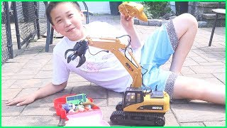 Excavator, Truck, Cars & Dump Trucks Construction Toy Vehicles for Kids Pretend Play
