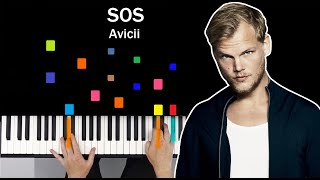 Avicii   SOS Fan Memories  ft  Aloe Blacc PIANO TUTORIAL MIDI SYNTHESIA