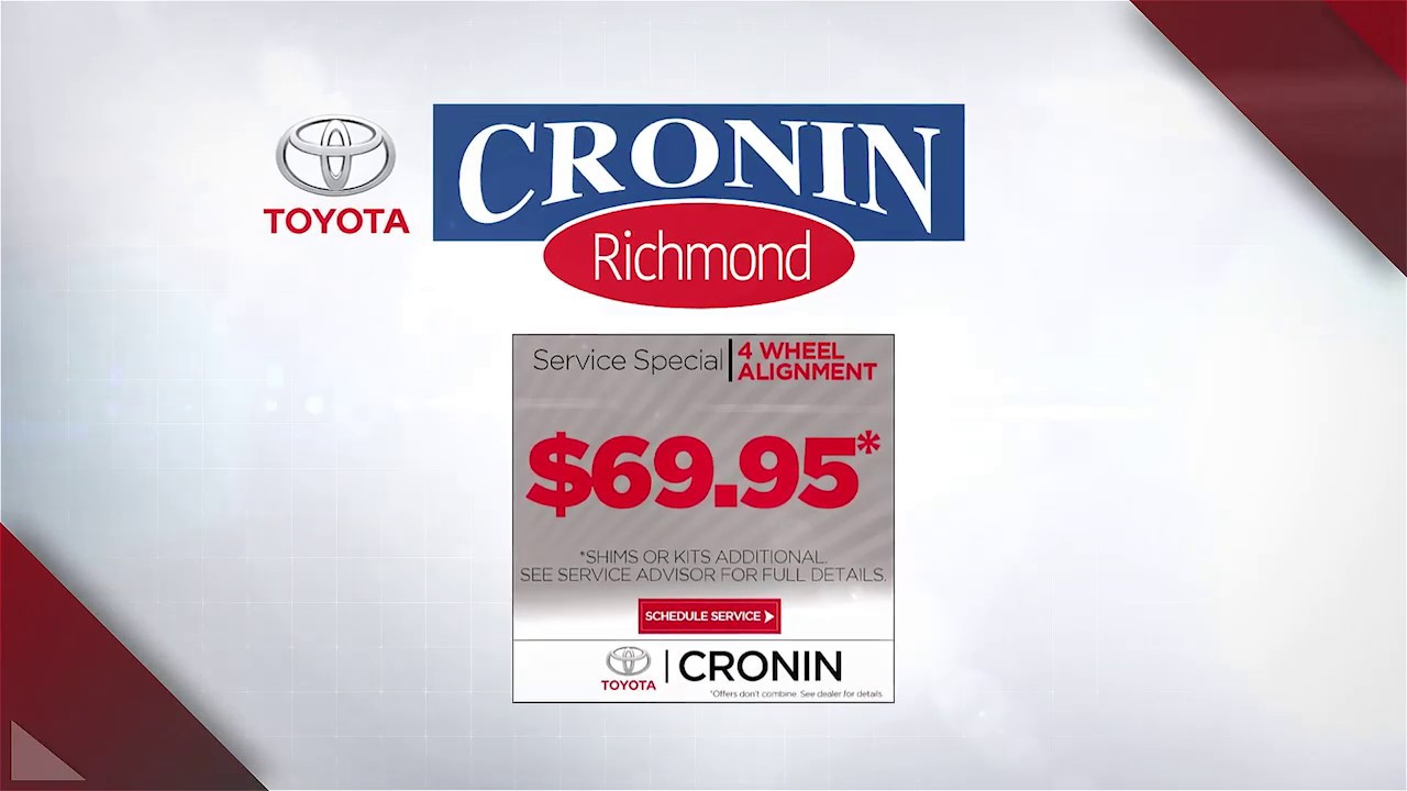 Toyota Richmond Indiana >> Cronin Toyota Alignment Coupon Richmond Indiana Youtube