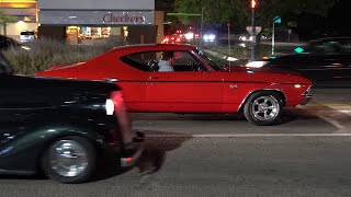 Cammed 454 Big Block 1969 Chevelle SS With Open Headers Leaving Car Show