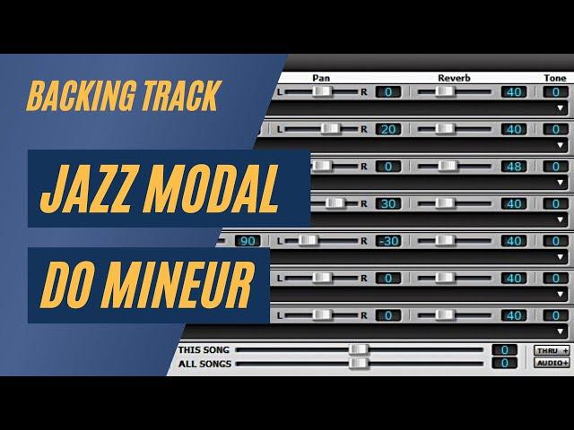Piste d'Accompagnement - Jazz modal en do mineur / Backing Track - Modal Jazz - C minor