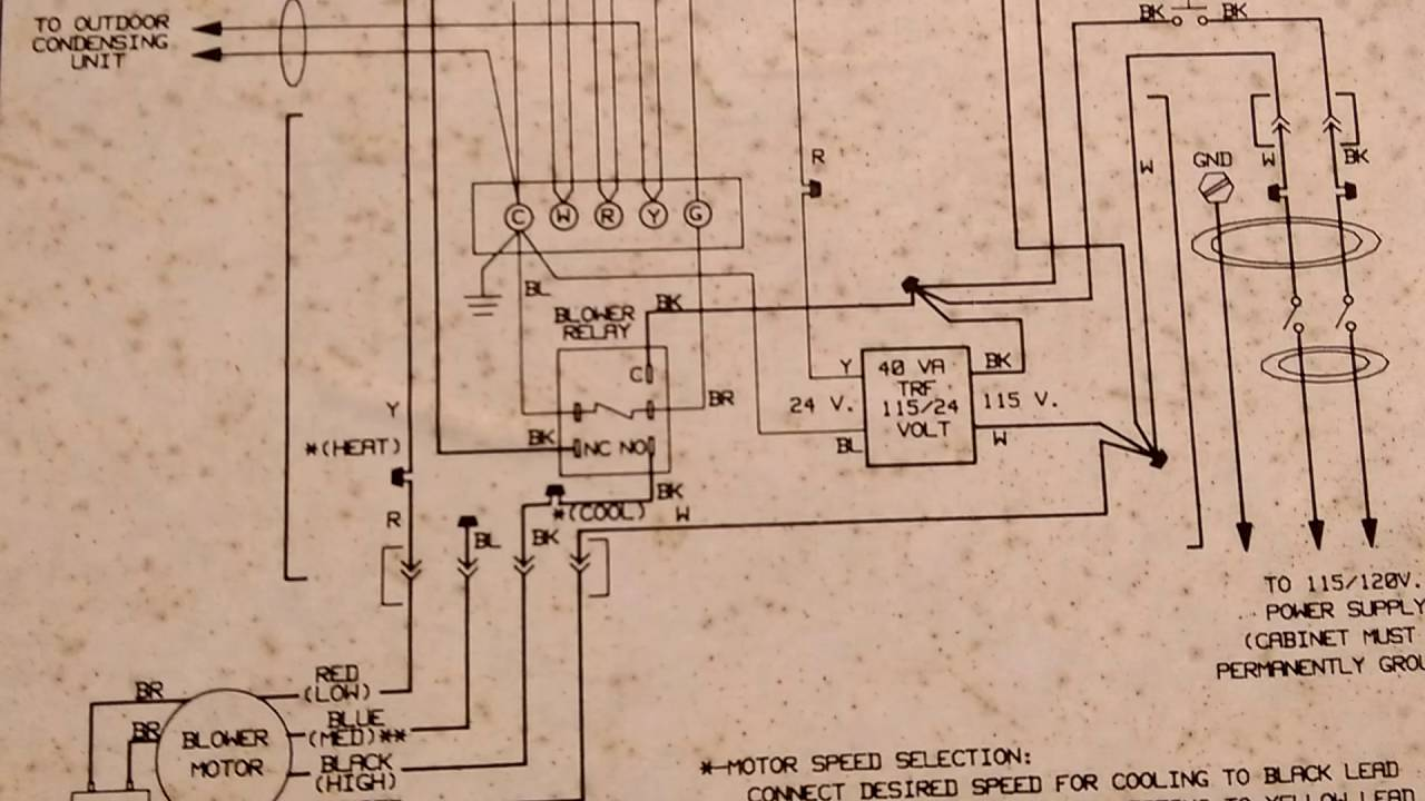 Ac Wiring Diagrams Comfortmaker Diagram Schematics Old Payne Furnace Gug 1991 Youtube American Standard