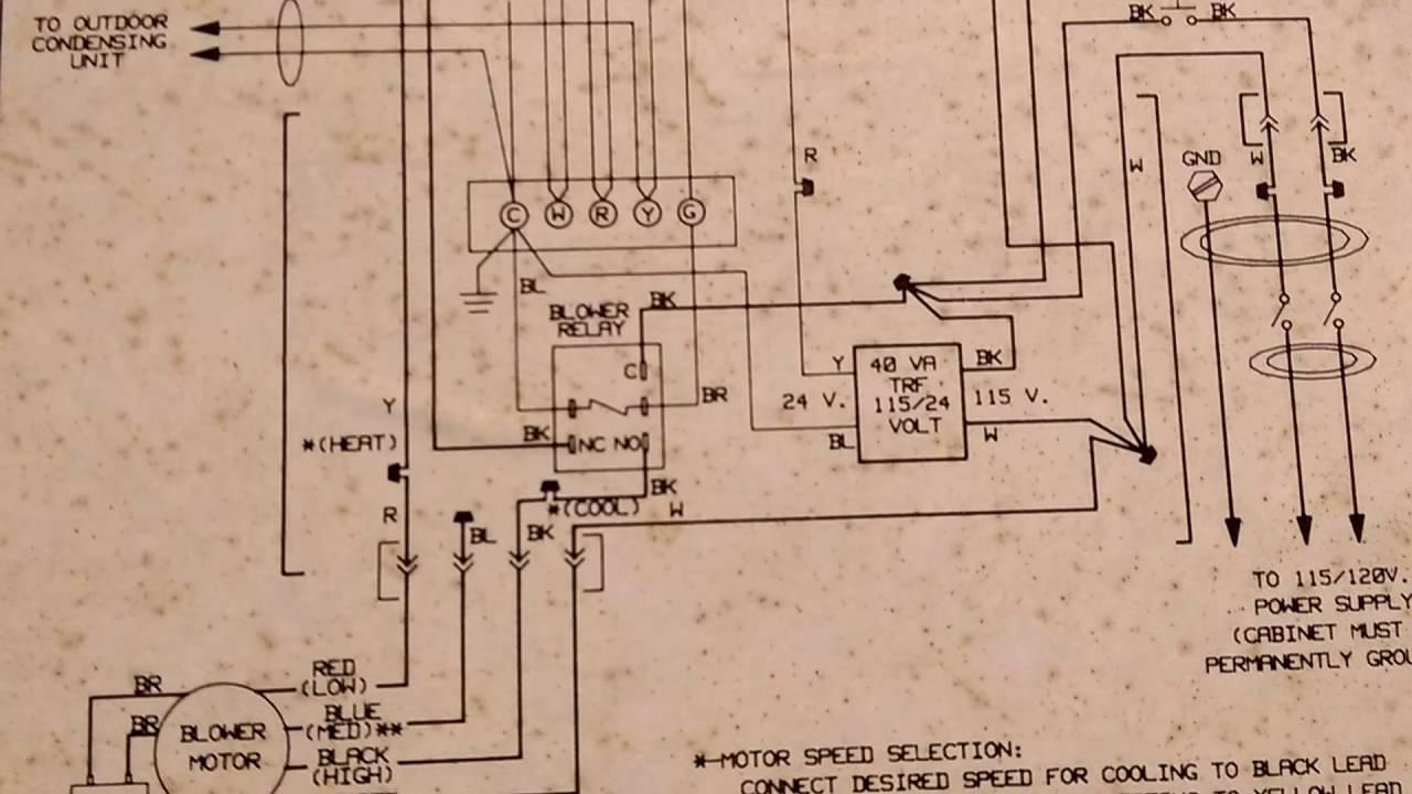 Comfortmaker furnace GUG 1991 Wiring Diagram - YouTube