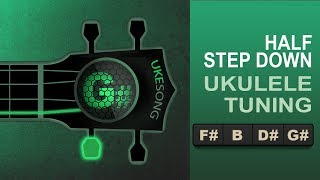 Online Ukulele Tuner   Half step down from standard ukulele tuning