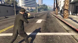 GTA V: Cop massacre (60FPS slow motion)