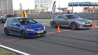 Nissan GT-R Switzer P800 vs Volkswagen Golf 7 R vs Audi RS7 Sportback