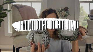 FARMHOUSE HOME DECOR HAUL | THRIFT STORE, TJ MAXX, HOBBY LOBBY, DOLLAR TREE