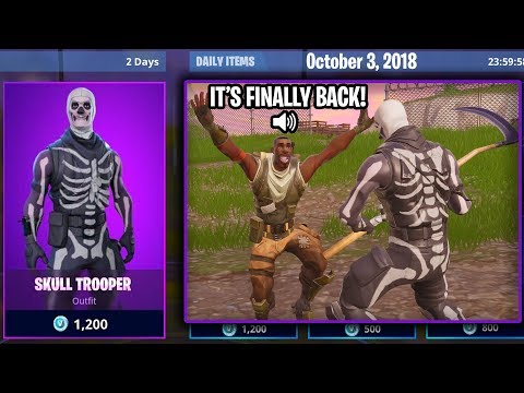 """I told random Kids in Playground the """"SKULL TROOPER is in the Item Shop!"""""""