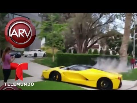 Ferrari y Porsche corren peligrosamente por las calles de Beverly Hills, California   Al Rojo Vivo