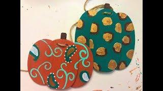 Painting a Pumpkin Banner with Tamara Bennett 2