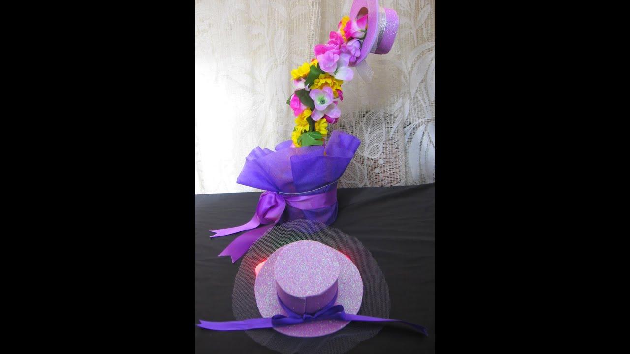 Capelina en goma eva para cascada de flores youtube - Flores sencillas de goma eva ...