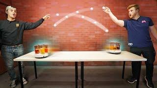 Roomba Cup Pong Challenge! | REKT vs. Get Good Gaming