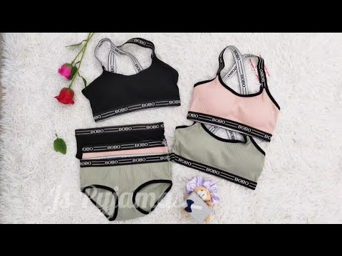 BOBO Young Girls Style Sport Bra Set with Panty