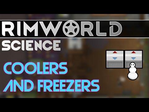 RimWorld Science: Coolers And Freezers — RimWorld Alpha 16 Freezer SCIENCE!!!