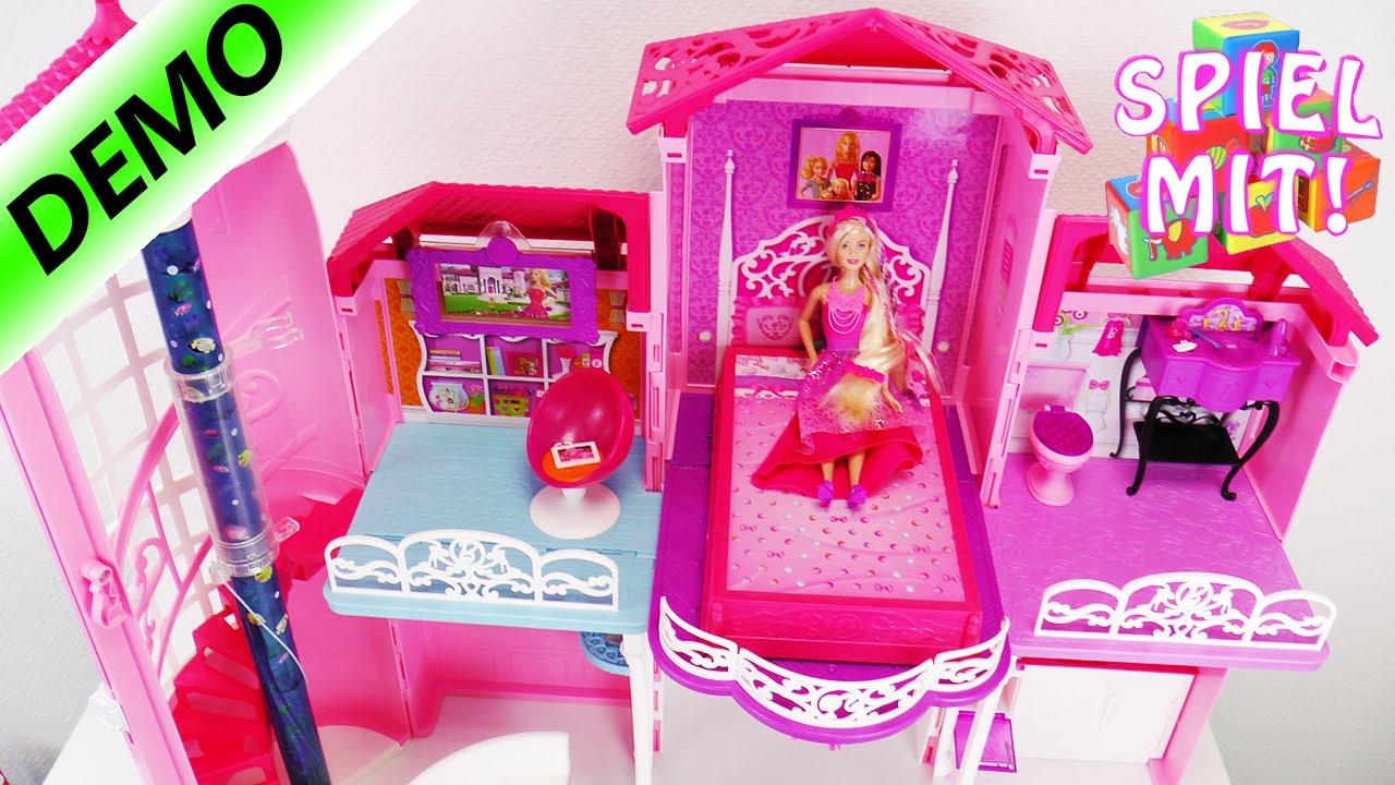 barbie traumhaus mit treppenlift smartphone halter und. Black Bedroom Furniture Sets. Home Design Ideas