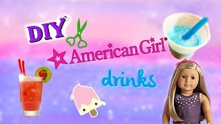 Diy American Girl Doll Drinks!