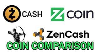 ZenCash vs ZCoin vs ZCash - A comparison of the coins