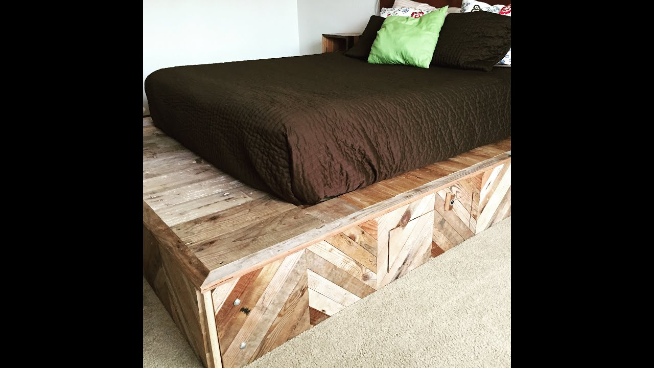 How To Build A Platform Bed From Reclaimed Wood   YouTube Nice Design