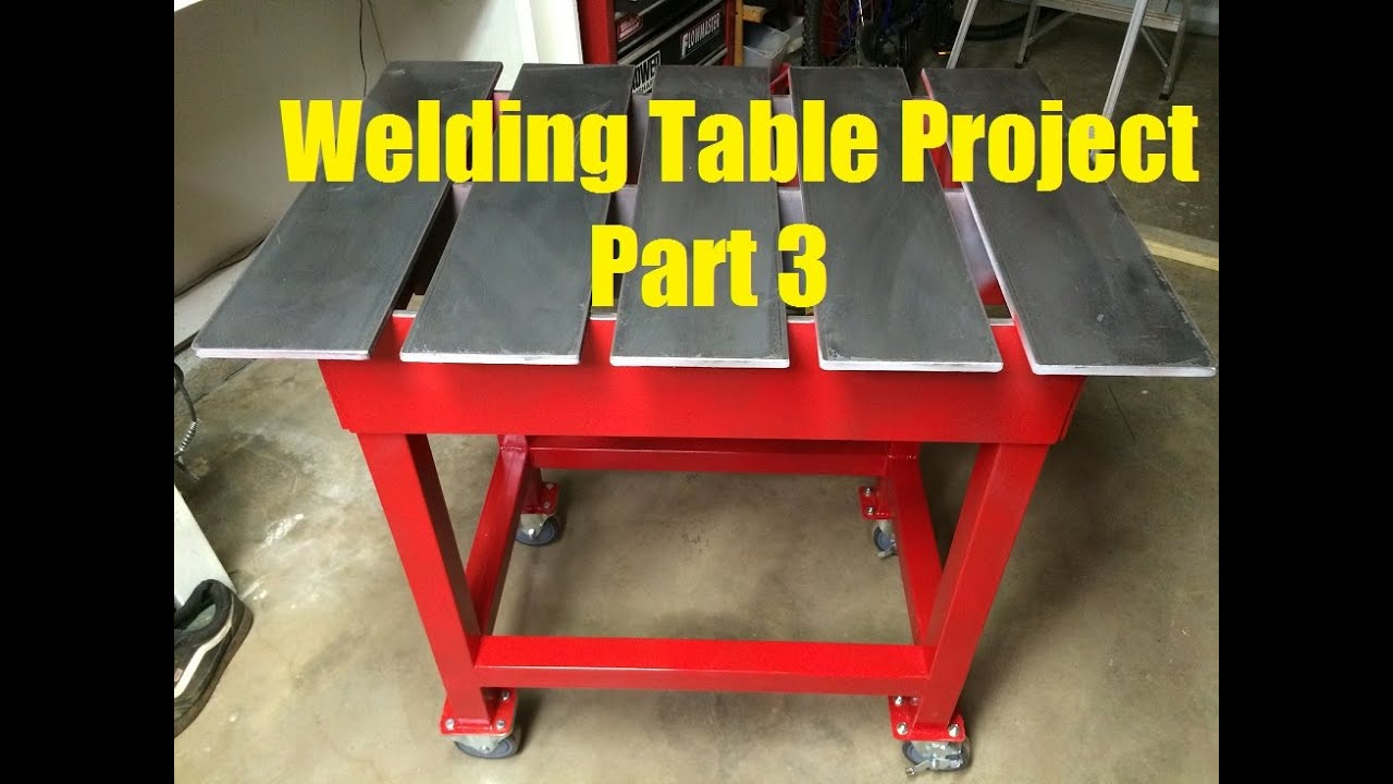 Welding Table Build Project Part 3 Of 3 Youtube