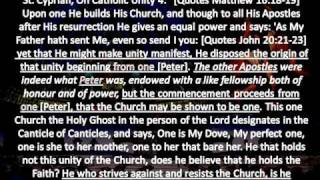 the cyprianic church and the papacy