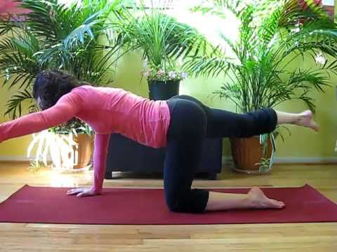 yoga  abs  core strength sequence  prone lauragyoga