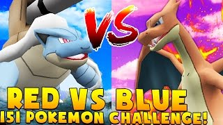 POKEMON RED VS BLUE 151 Minecraft POKEMON CHALLENGE - Pixelmon Modded Minigame