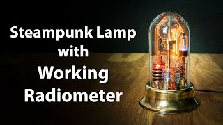 Steampunk Lamp Art Sculpture Glass Dome Display with Working Radiometer screenshot 2