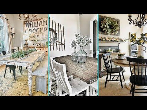 ❤DIY Shabby chic style Rustic Dining Room decor Ideas | Farmhouse dining room decor | Flamingo Mango