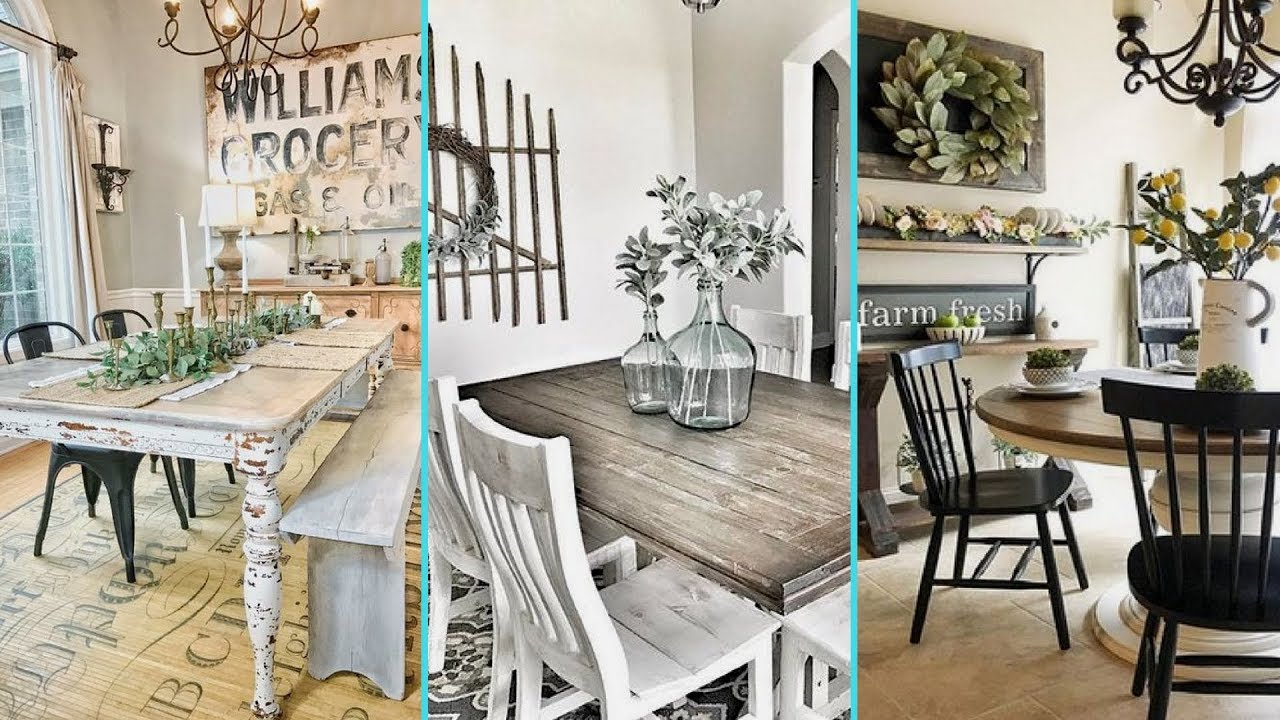 ❤DIY Shabby chic style Rustic Dining Room decor Ideas | Farmhouse dining  room decor | Flamingo Mango