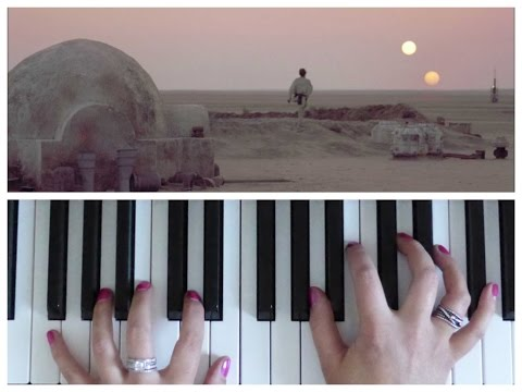 BINARY SUNSET Theme from STAR WARS | EASY Piano Tutorial